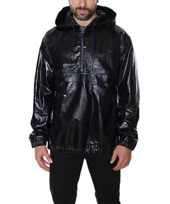 Diesel Black Gold Men's  Black Leather Outerwear Jacket