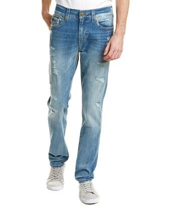 True Religion Rocco Worn Riff Straight Leg In Denim