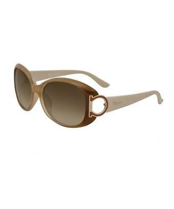 Salvatore Ferragamo Women's Sf669sa 56mm Sunglasses In Beige/other/brown Gradient