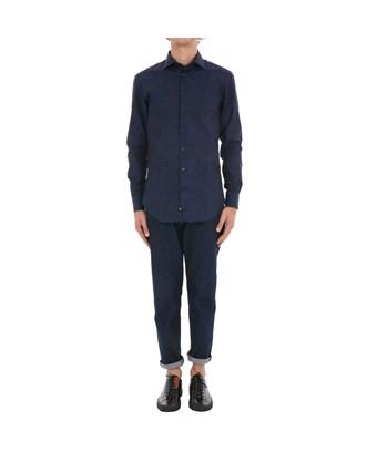 Etro Men's  Blue Cotton Shirt