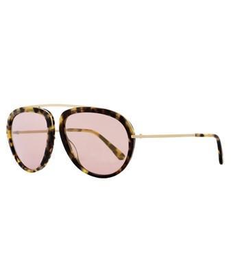 a7087113c0e07 Tom Ford Stacy Ft0452 53Z Blonde Havana Aviator Sunglasses In Tortoise Rose  Gold