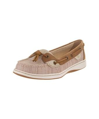 Sperry Womens Dunefish Canvas Closed Toe Boat Shoes In Brown