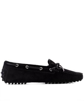 Tod's Women's  Black Suede Loafers