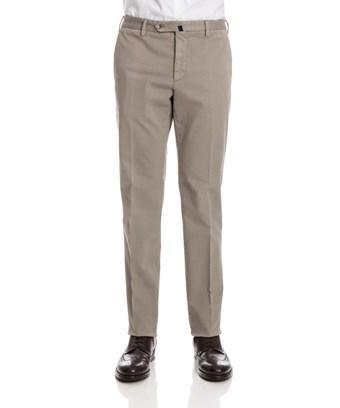 Incotex Men's  Beige Cotton Pants In Brown
