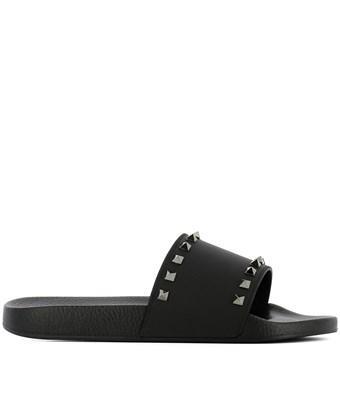 Valentino Garavani Men's Slippers Sandals Rubber In Black
