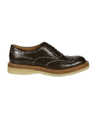 Church's Women's  Brown Leather Lace-Up Shoes