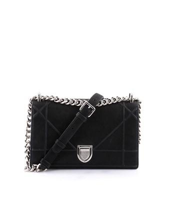 fa30b3c76d7 Dior Pre-Owned: Ama Flap Bag Iridescent Nubuck Small In Black | ModeSens