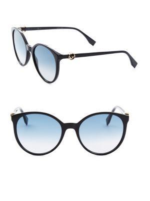 a36f32f1a40e Fendi 56Mm Round Sunglasses In Black