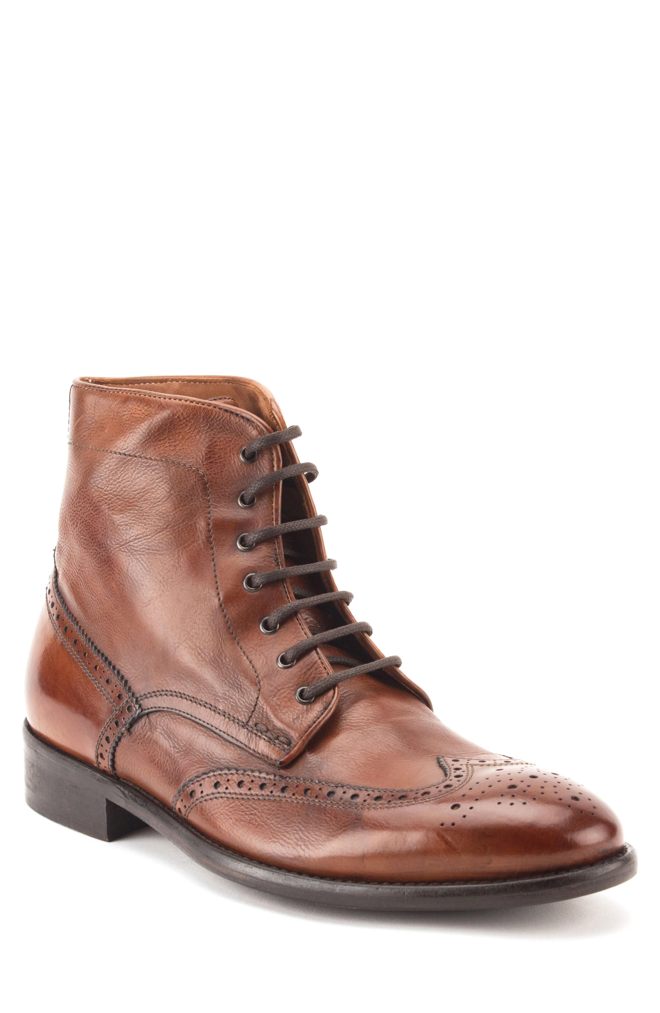 d8a621c2997 Maxfield Wingtip Boot in Cognac Leather