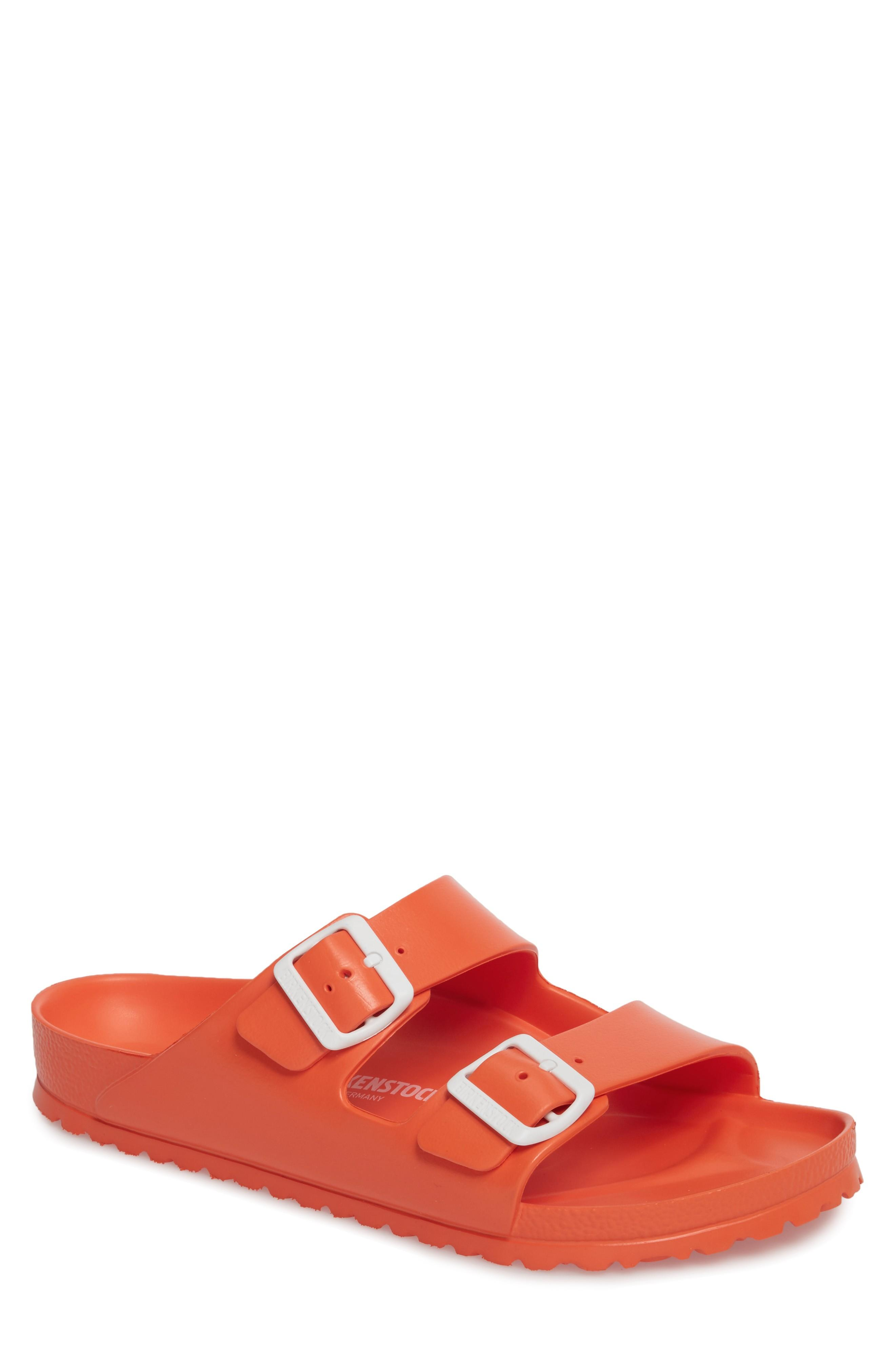 8ef7d3a5362fe9 Birkenstock Essentials Arizona Eva Waterproof Slide Sandal In Coral ...
