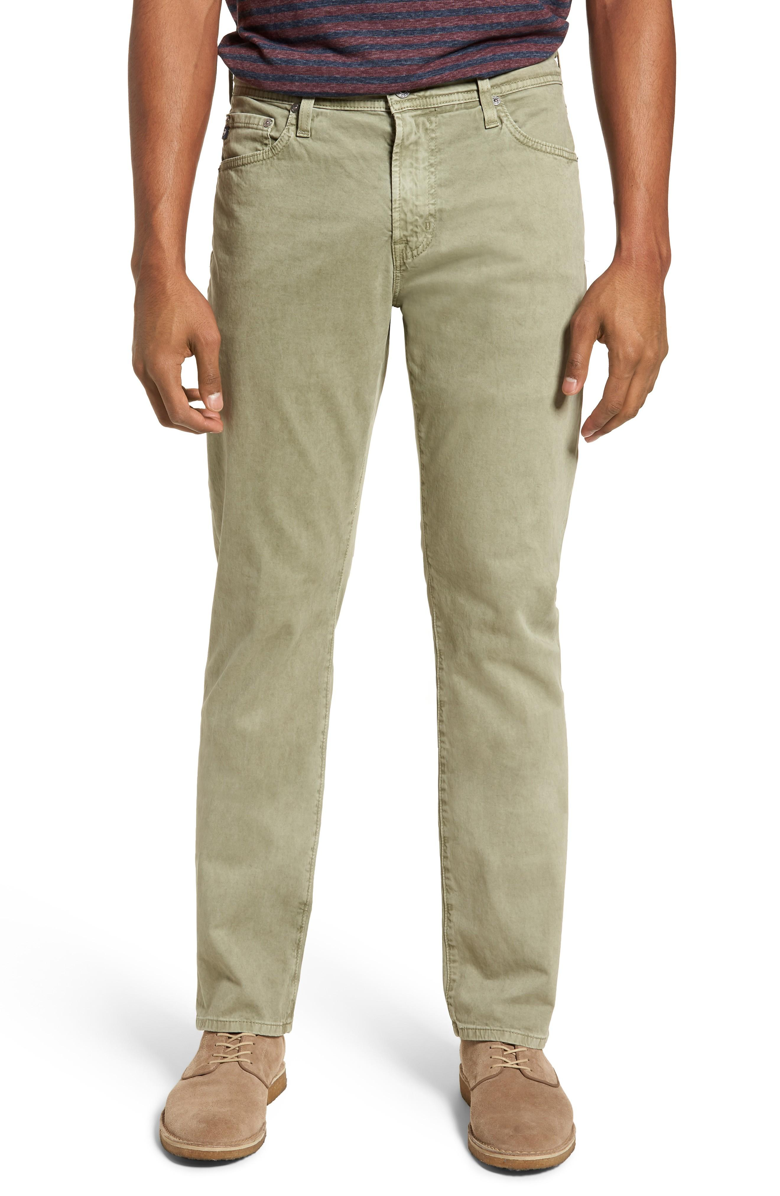 940e0a9a5ef90 Ag Everett Sud Slim Straight Fit Pants In Sulfur Dry Cypress