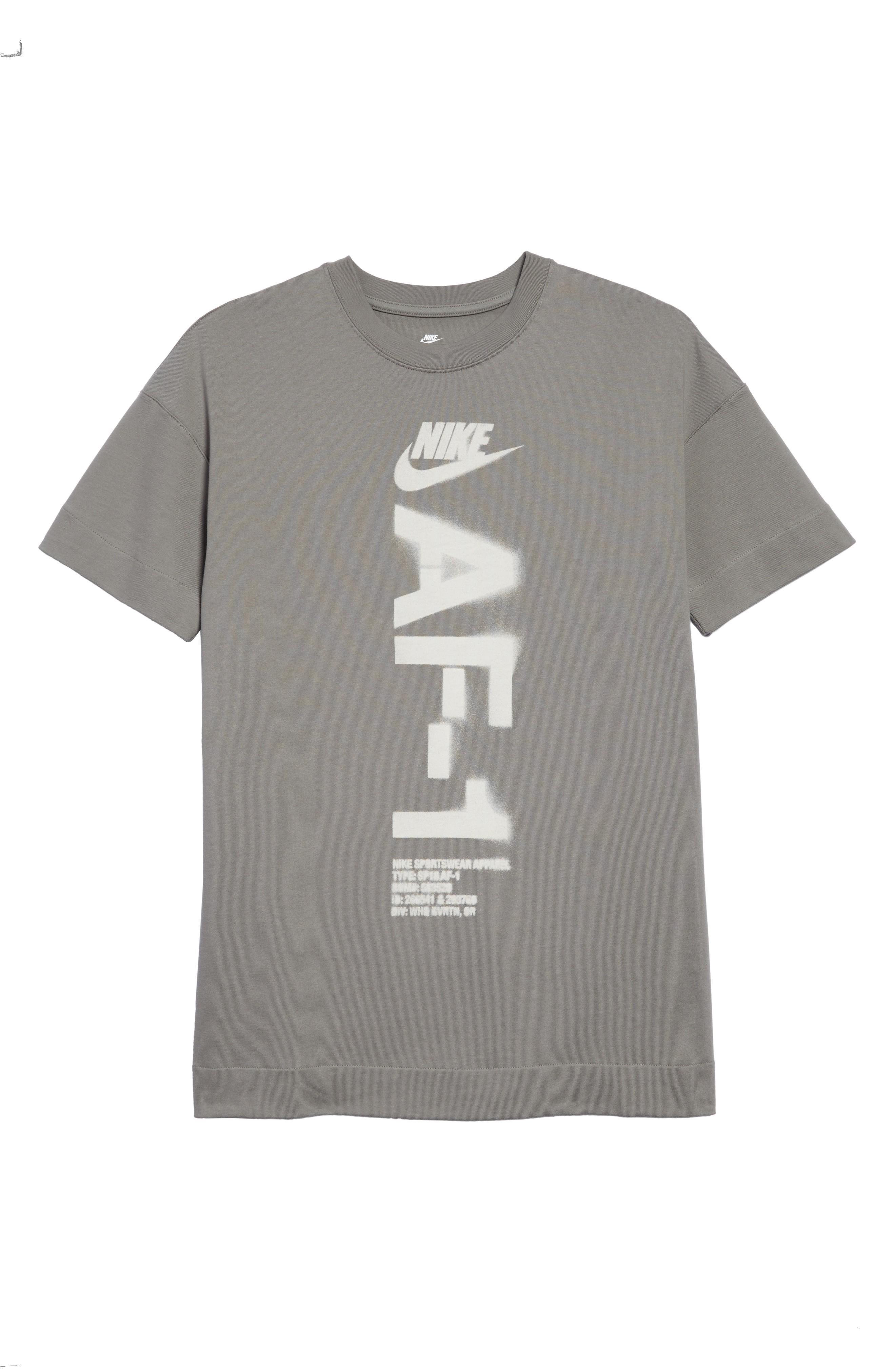 e2247edd Nike Nsw Heavyweight Af-1 T-Shirt In Dark Stucco/ Light Bone | ModeSens