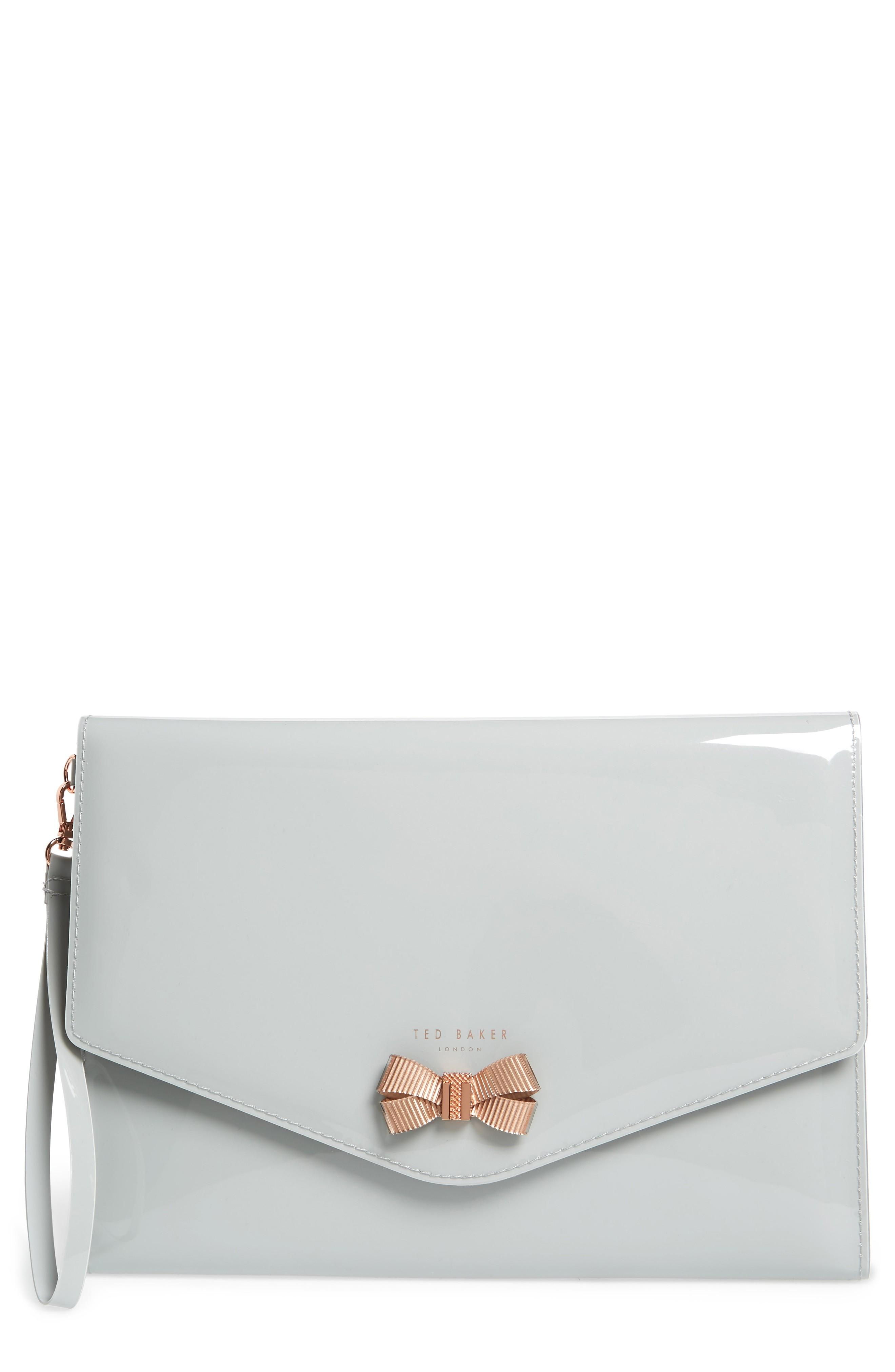 83f55f5819 Ted Baker Luanne Envelope Clutch - Grey In Mid Grey | ModeSens