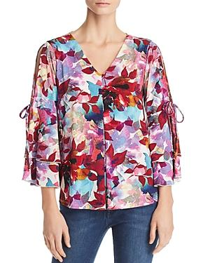 d20c3d76d84 Cupio Printed Cold-Shoulder Top In Bright Floral