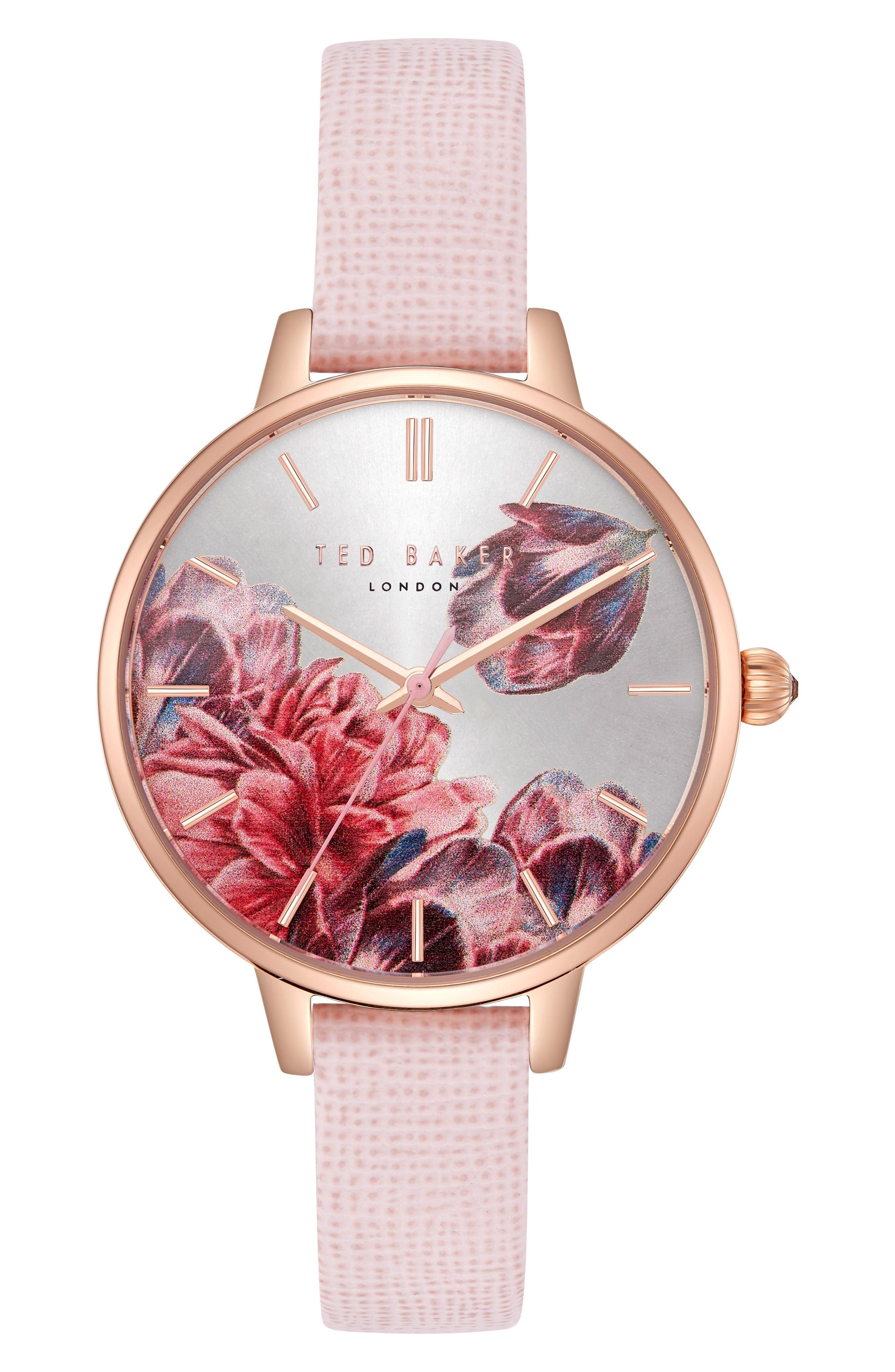 07d1c5f5115a Ted Baker Kate Leather Strap Watch