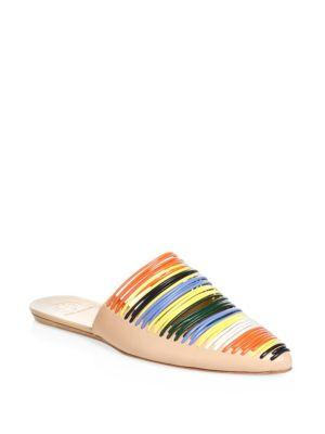 9b4f0358a9d4 A banded vamp adds eye-catching texture to a smooth leather mule with an  effortlessly chic attitude. Style Name  Tory Burch Sienna Pointy Toe Mule ( Women).