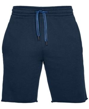 "Under Armour Men's Ez Knit 10"" Shorts In Navy Blue"
