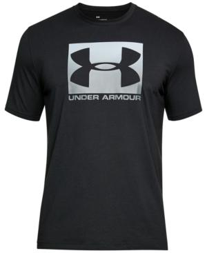 Under Armour Men's Charged Cotton Logo T-Shirt In Black