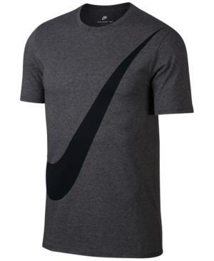 Nike Men's Sportswear Logo T-Shirt In Charcoal Heather