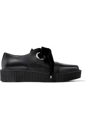 Marc By Marc Jacobs Woman Leather Platform Loafers Black