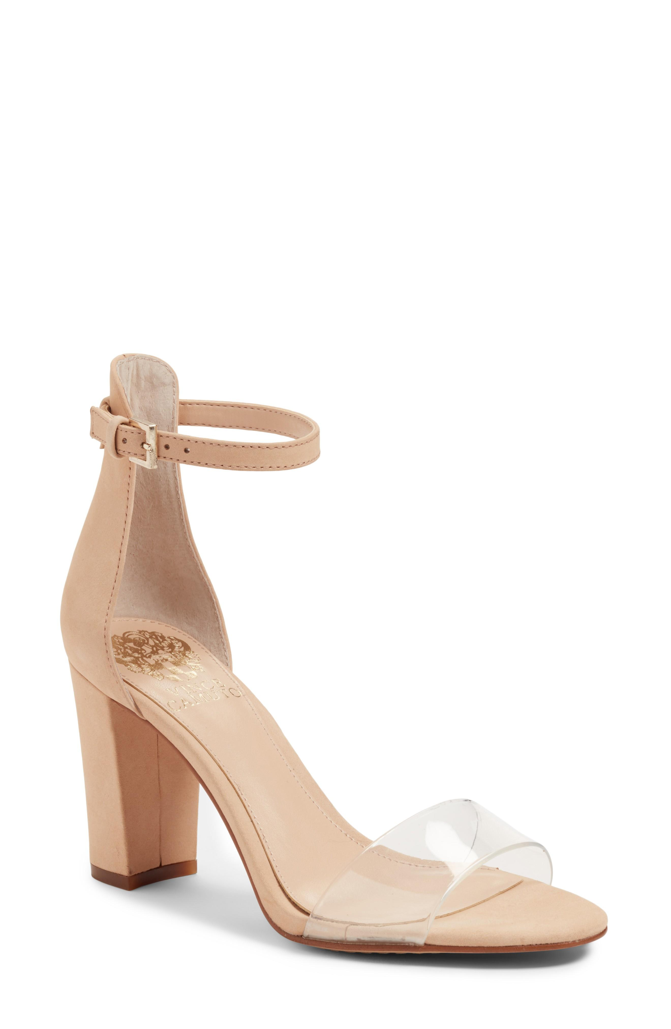 9de160be2262 Vince Camuto Corlina Ankle Strap Sandal In Beauty  Clear
