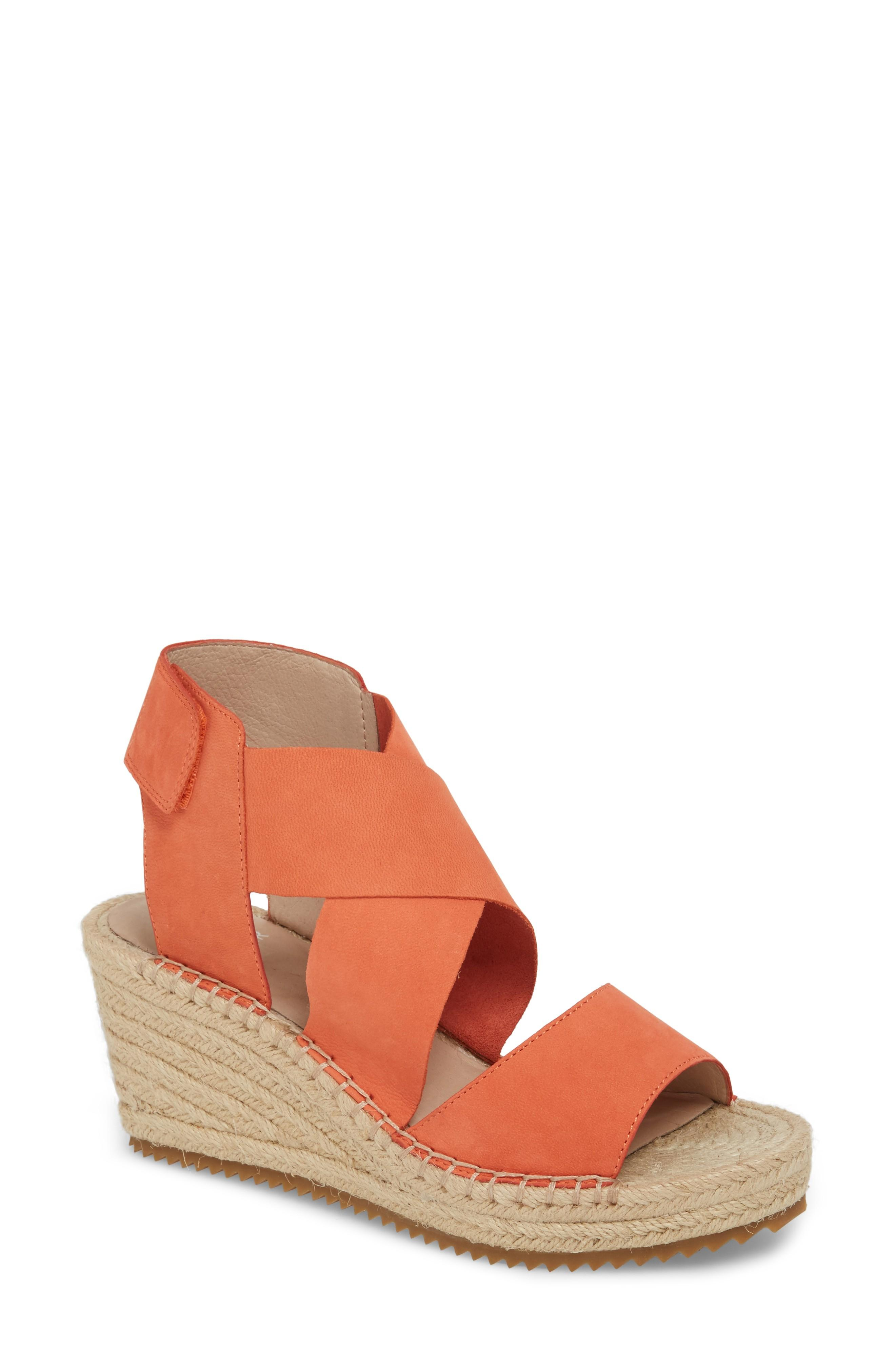 cee33401236 'Willow' Espadrille Wedge Sandal in Persimmon Leather