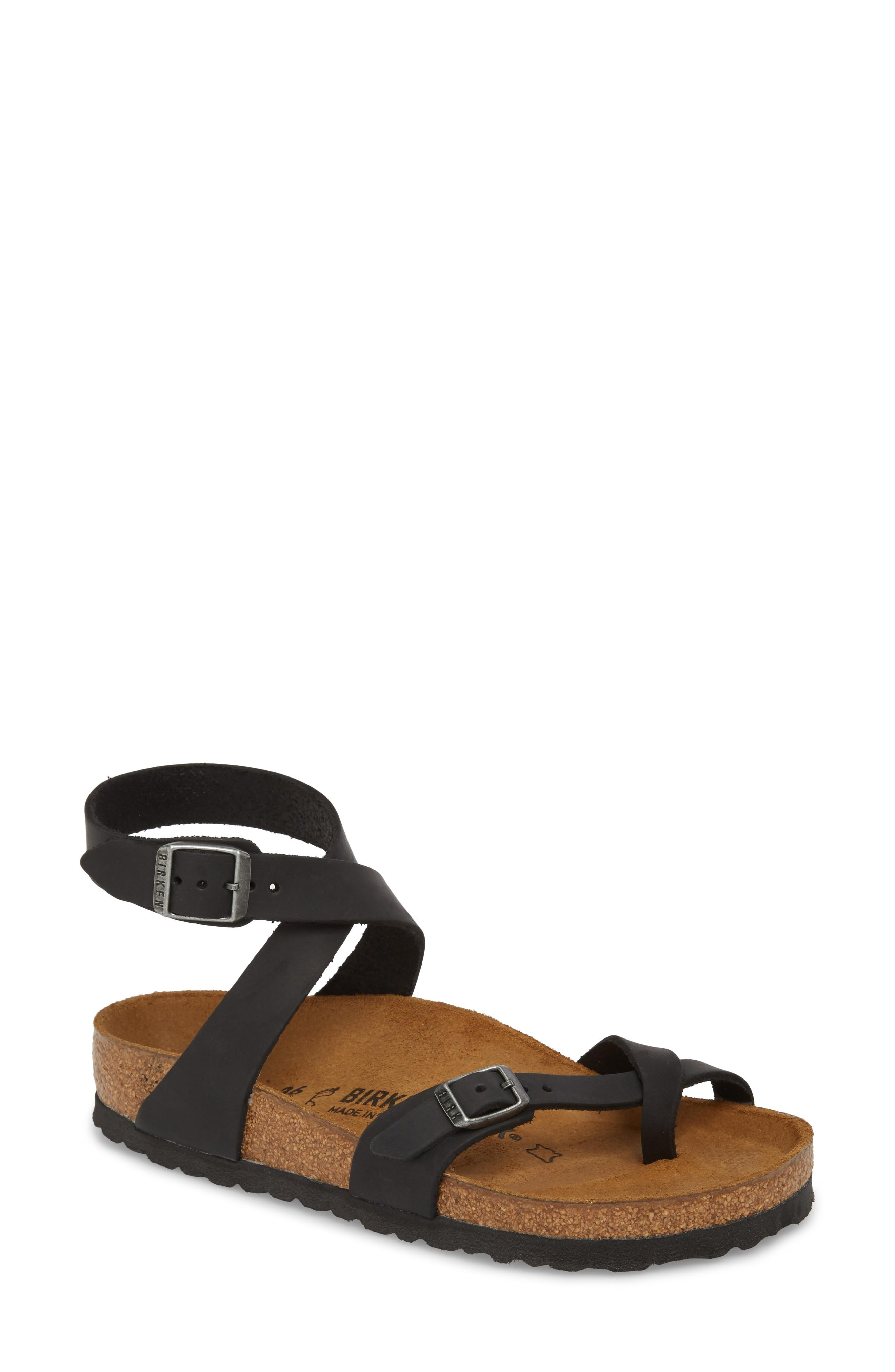 1a065f8836a2 Birkenstock  Yara  Sandal In Black Oiled Leather