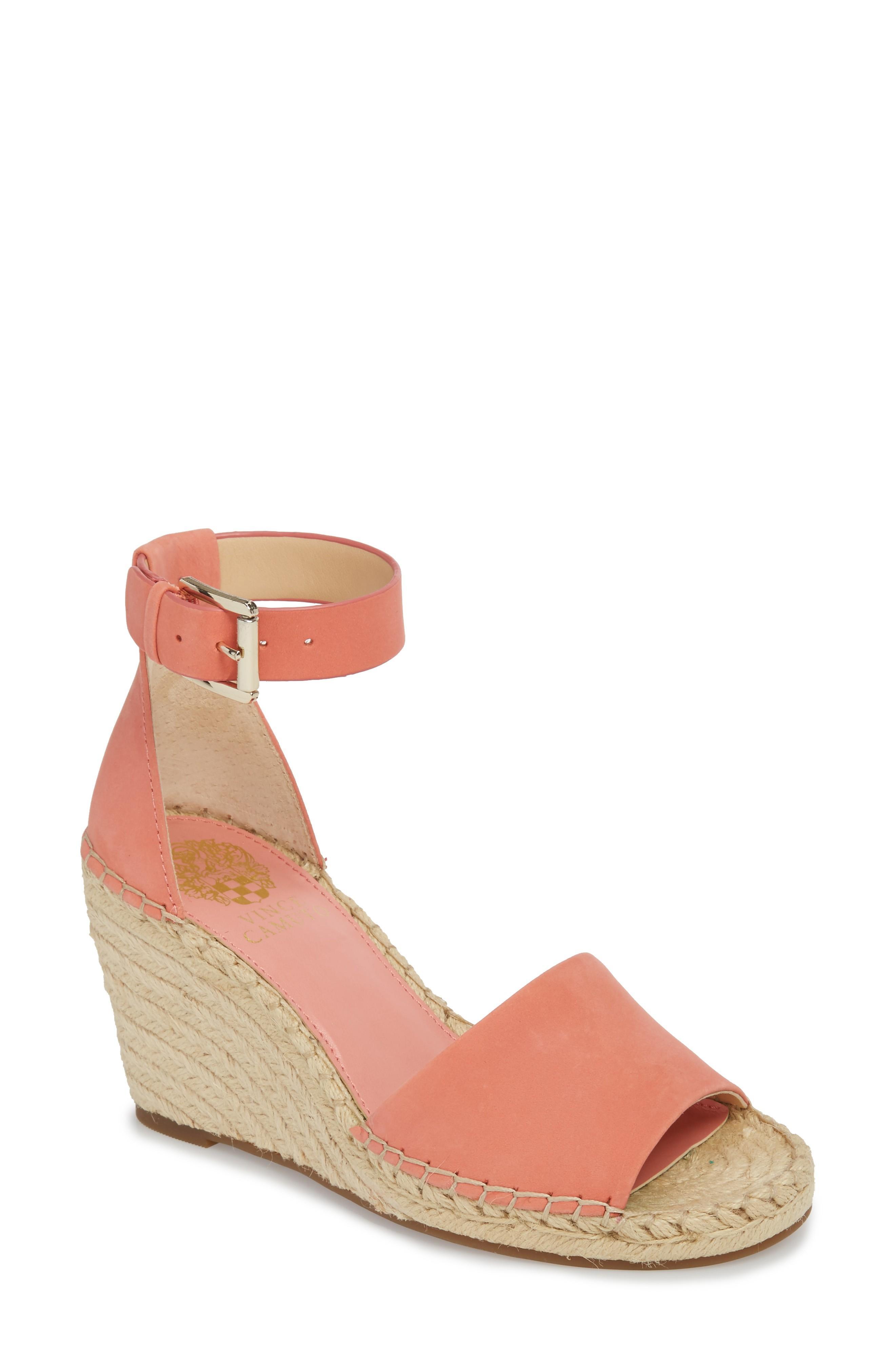 a8b036d7c43 Women's Leera Suede Espadrille Wedge Sandals in Fancy Flamingo Leather