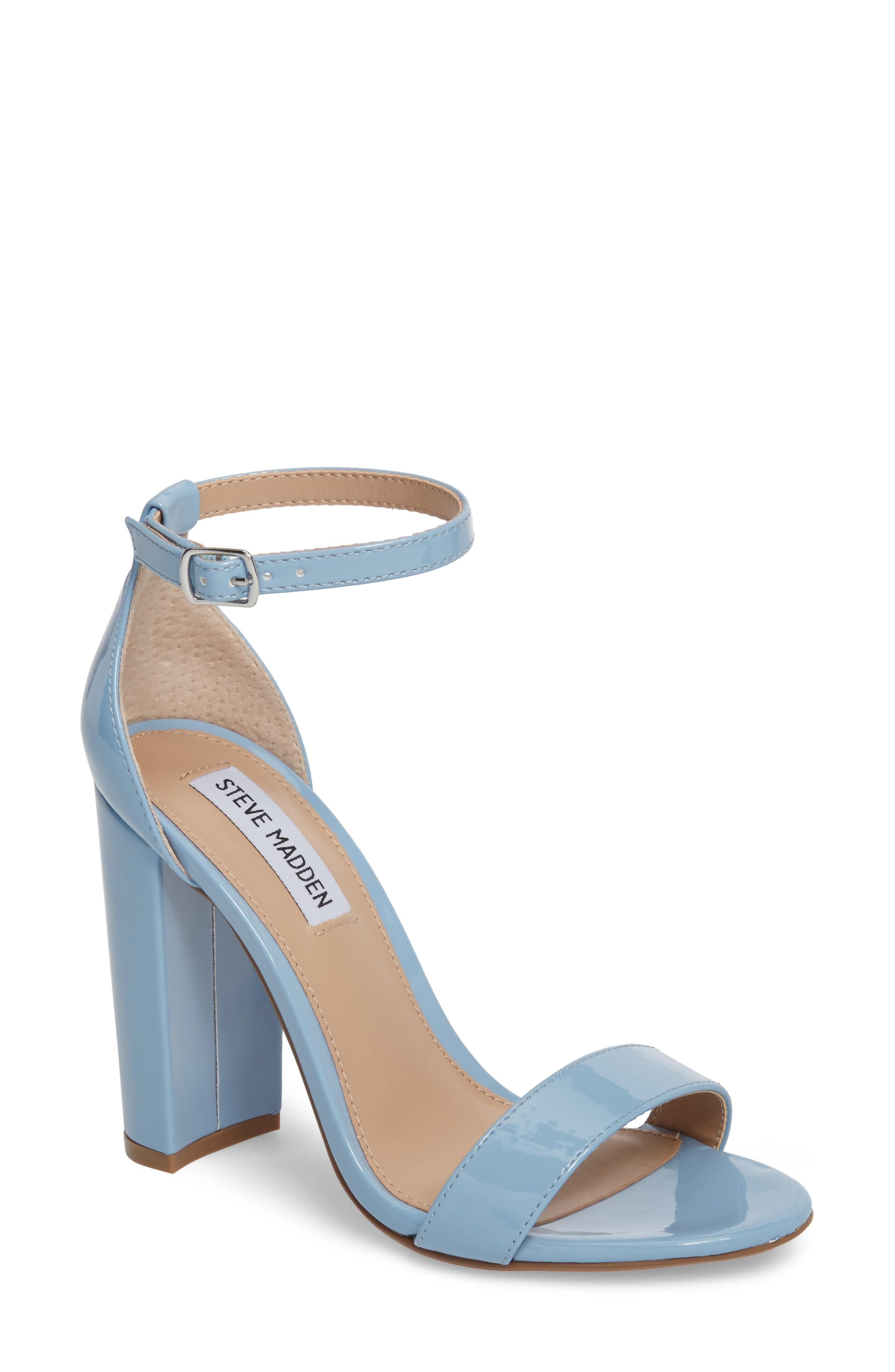 d3dcfff1277 A minimalist ankle-strap sandal is set on a chunky heel. Style Name  Steve  Madden Carrson Sandal (Women). Style Number  5047376 4. Available in stores.
