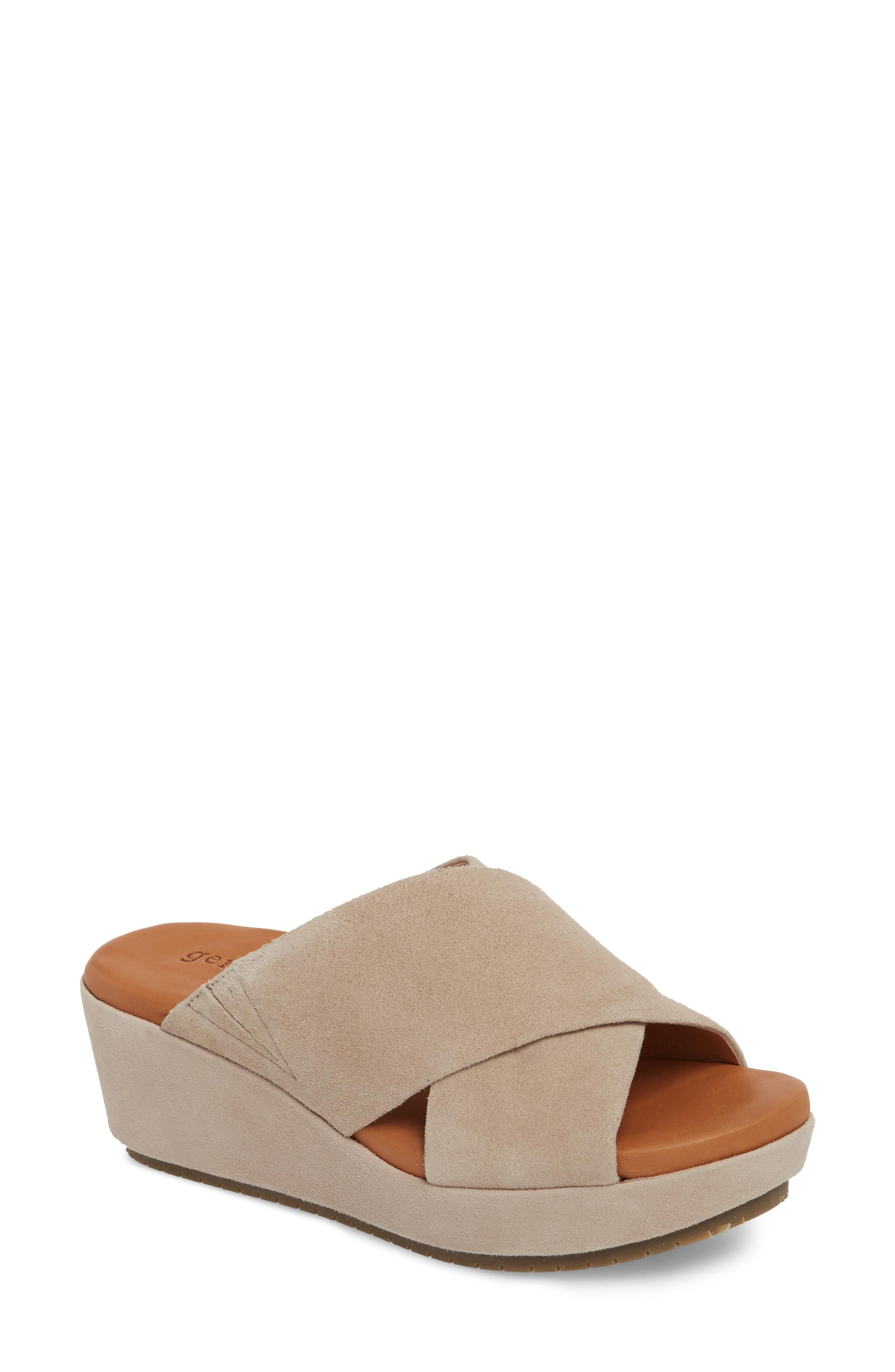 950f3d9f603d A tonal wedge and platform add just-right height to an versatile leather  slide. Style Name  Gentle Souls By Kenneth Cole Mikenzie Sandal (Women).