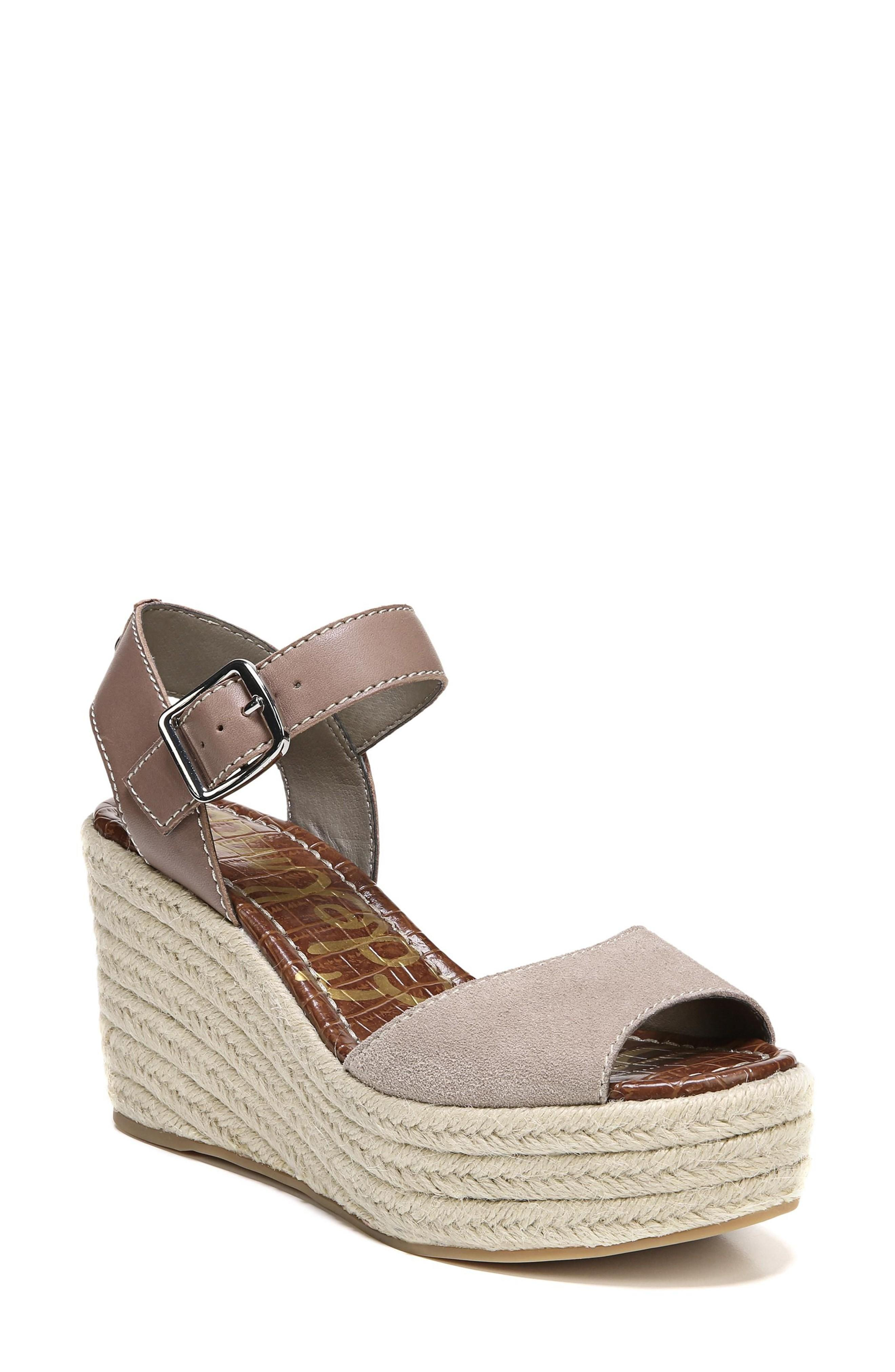 0fe0500125be An espadrille-style platform and wedge underscore the laid-back