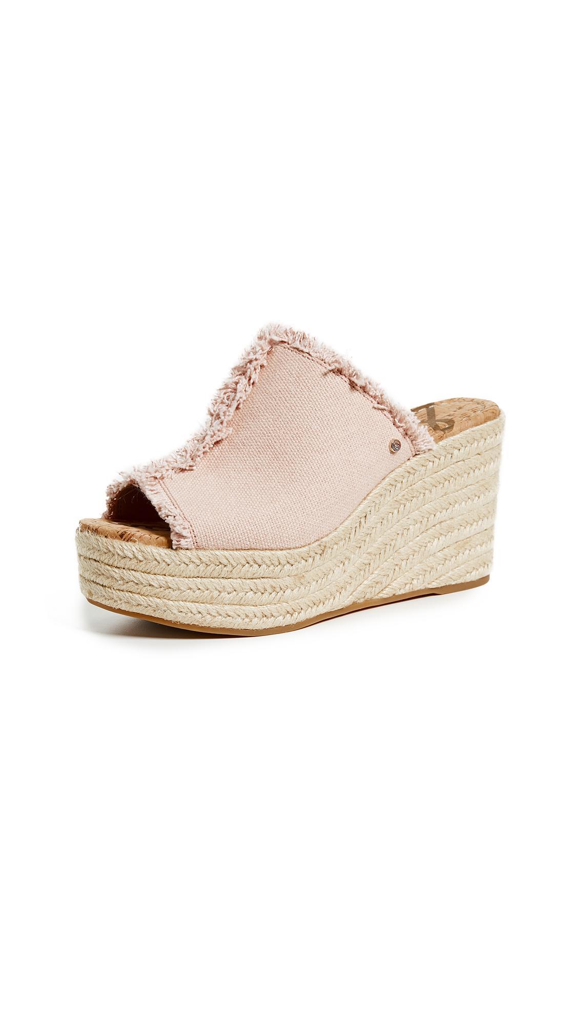 966569125 Sam Edelman Women s Dina Fringed Espadrille Wedge Slide Sandals In ...