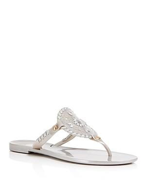 6e087bc8d Jack Rogers Thong Sandals - Georgica Jelly In Silver  Silver