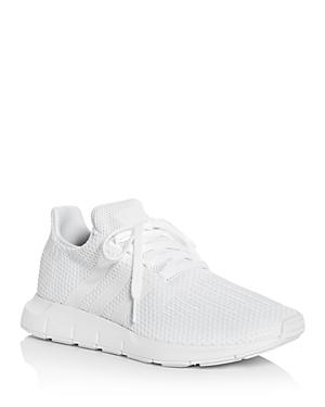 243540c3e80 Adidas Originals Women s Swift Run Knit Lace Up Sneakers In White ...