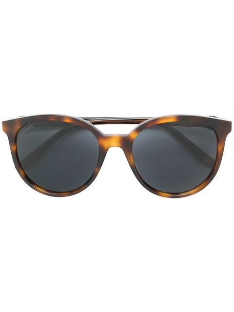 e160203d22c7 Brown metal C Décor sunglasses from Cartier featuring round frames