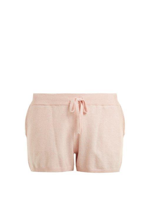 Skin Vic Cotton-Blend Pyjama Shorts In Pink