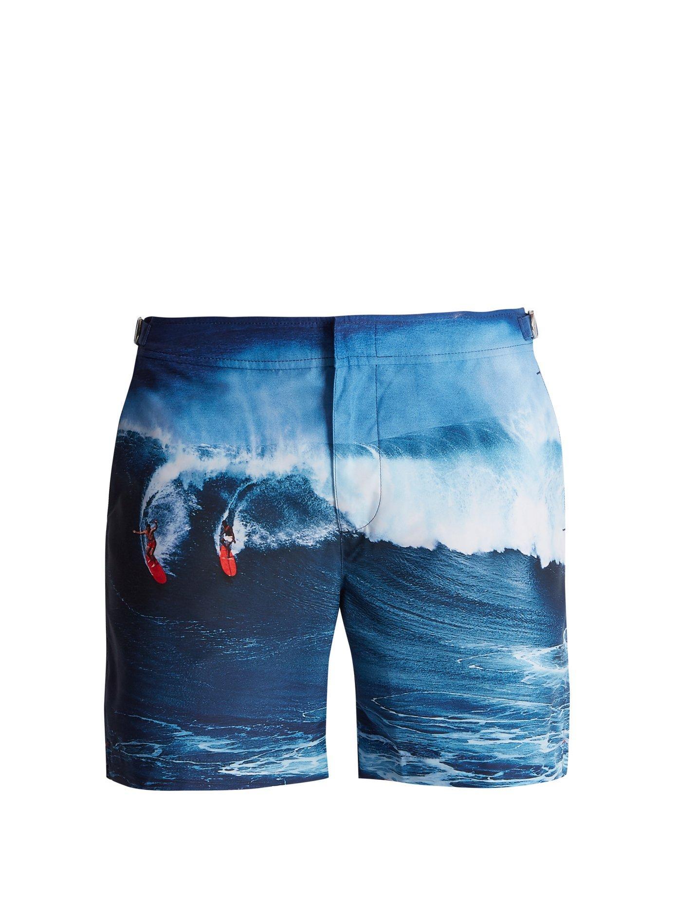 36ab9c684c Orlebar Brown Bulldog Photographic-Print Swim Shorts In Navy | ModeSens