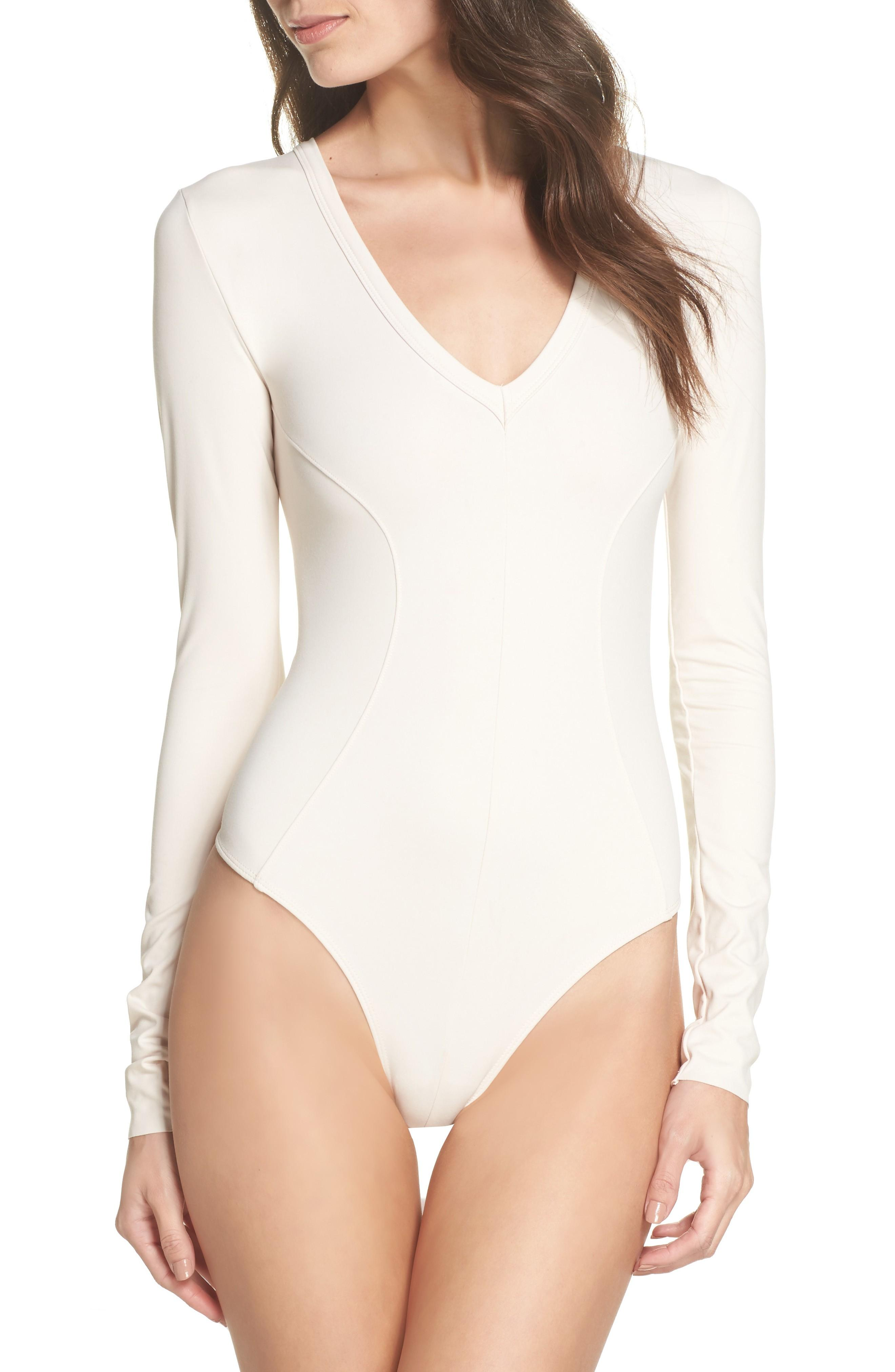 Intimately Free People Womens In Your Pocket Cotton Thong Bodysuit Top BHFO 0144
