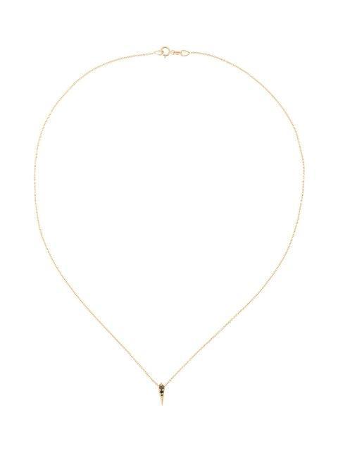 Lizzie Mandler Fine Jewelry 18kt Gold And Black Diamond 'single Kite' Necklace In Metallic