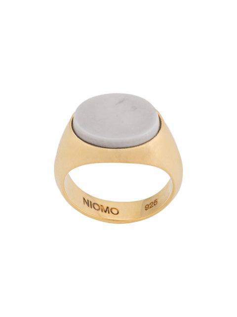 Niomo Lana Pinky Finger Ring In Metallic
