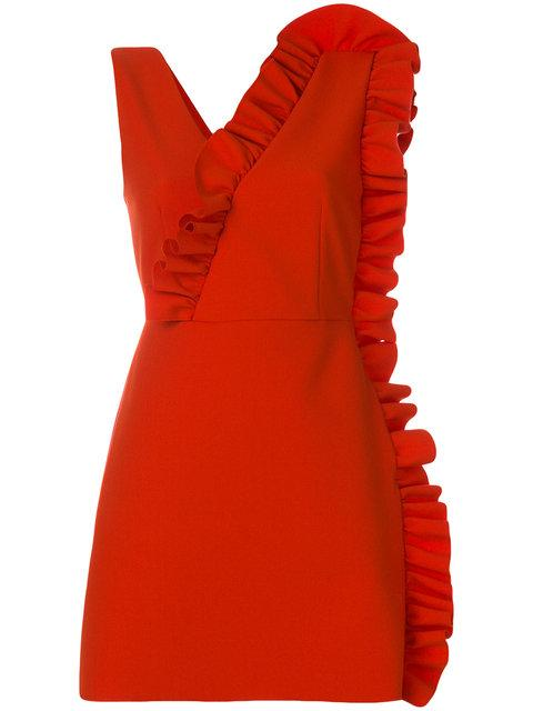 Msgm Ruffled Short Dress - Red