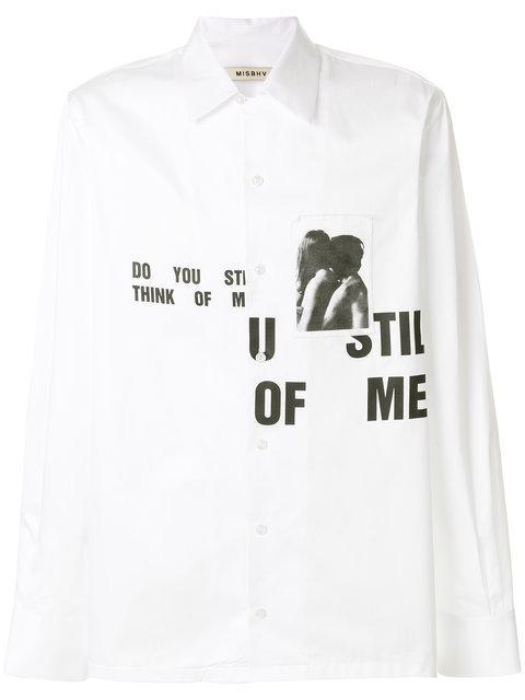 Misbhv Slogan Print Shirt
