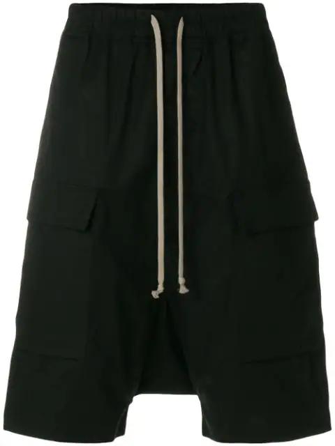 Rick Owens Drkshdw Pods Black Cotton Shorts