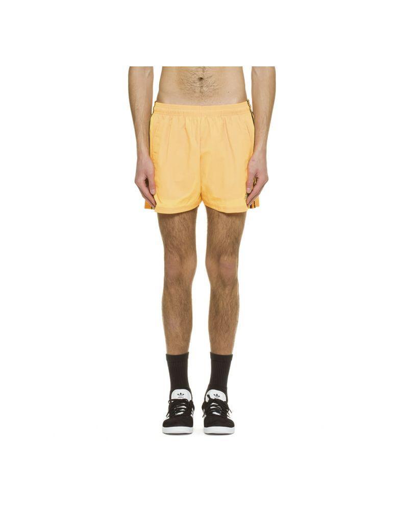 Gosha Rubchinskiy X Adidas Stripe Track Shorts In Orange