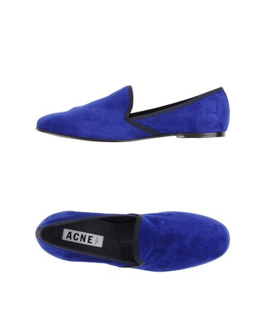 Acne Studios Loafers In Bright Blue