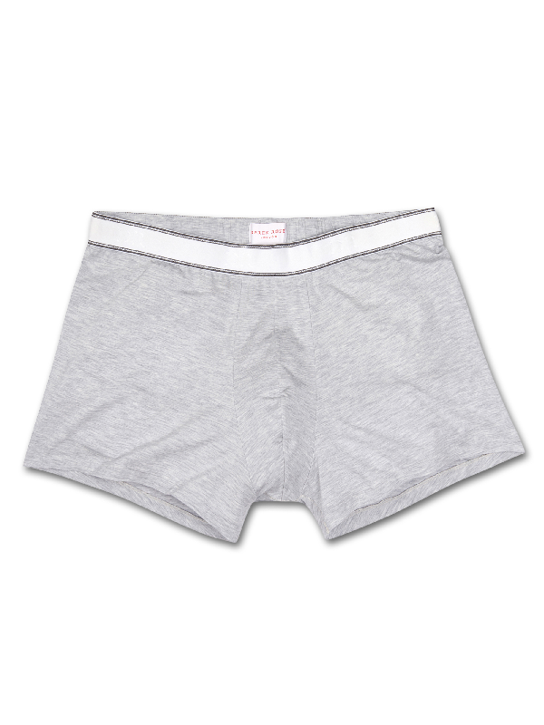 Derek Rose Ethan Heathered Jersey Hipster Boxer Briefs (Shorter Leg) In Gray