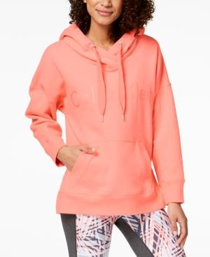 Calvin Klein Performance Over-Sized Hoodie In Coral Ice