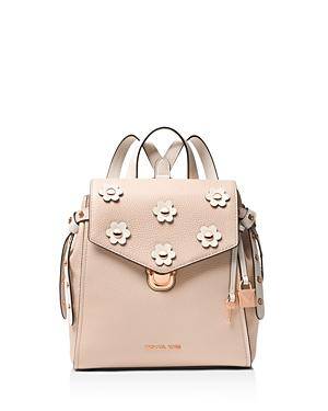 2b26341d0204 Michael Michael Kors Small Flower Embellished Leather Backpack - Pink In Soft  Pink/Rose Gold