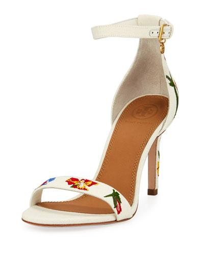 399469a33ec6 Tory Burch Ellie Embroidered Ankle Strap Sandal In Painted Iris ...