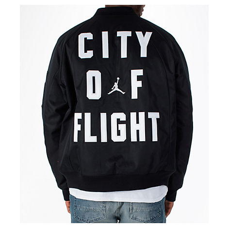 Men's Black Bomber Flight Jordan Air Jacket Nike Modesens Of City dnYPgd8B